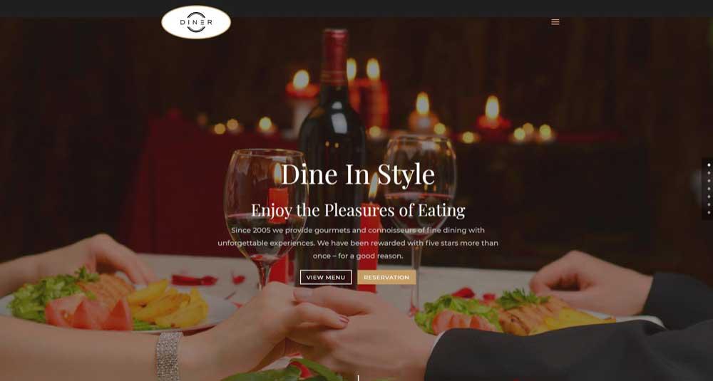 Diner Website